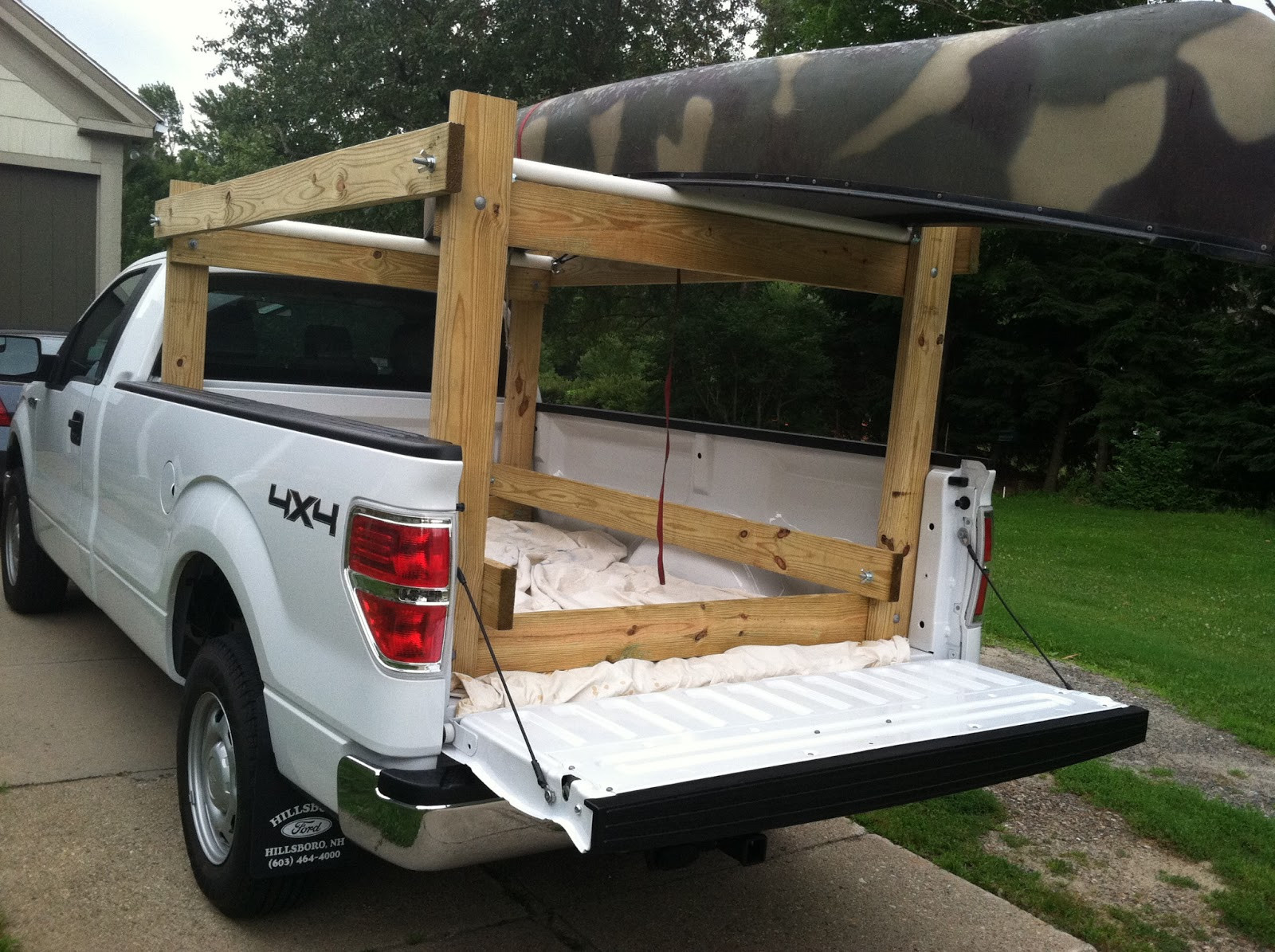 DIY Truck Canoe Rack  Howdy Ya Dewit Easy Homemade Canoe Kayak Ladder and