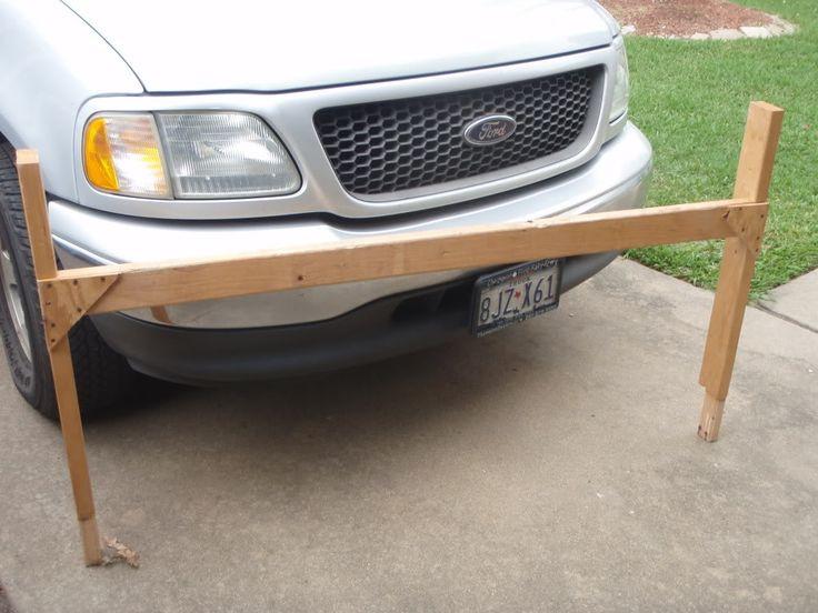 DIY Truck Canoe Rack  homemade truck rack from 2x4 s