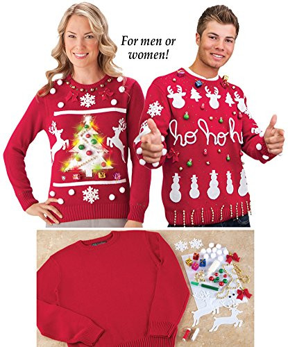 DIY Ugly Sweater Kit  Do It Yourself Ugly Christmas Sweater Kit
