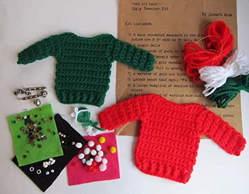 DIY Ugly Sweater Kit  Amazon Ugly Sweater Kit Holiday Craft Kit DIY