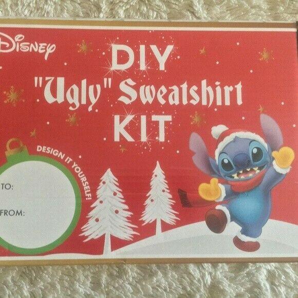 DIY Ugly Sweater Kit  NEW Disney DIY Ugly Sweater Christmas Stitch Kit Womens XL