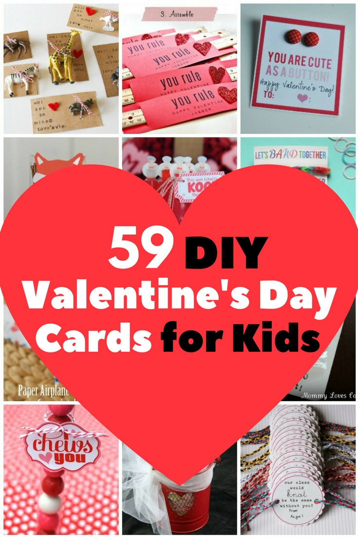 DIY Valentines Cards Kids  59 Adorable Valentine s Day Cards for Children The