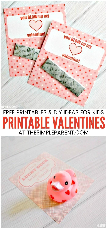 DIY Valentines Cards Kids  Printable Valentines & DIY Valentine Ideas for Kids • The