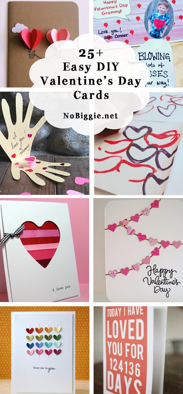 DIY Valentines Cards Kids  25 Easy DIY Valentine s Day Cards