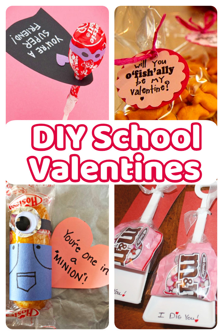 DIY Valentines Cards Kids  DIY School Valentine Cards for Classmates and Teachers