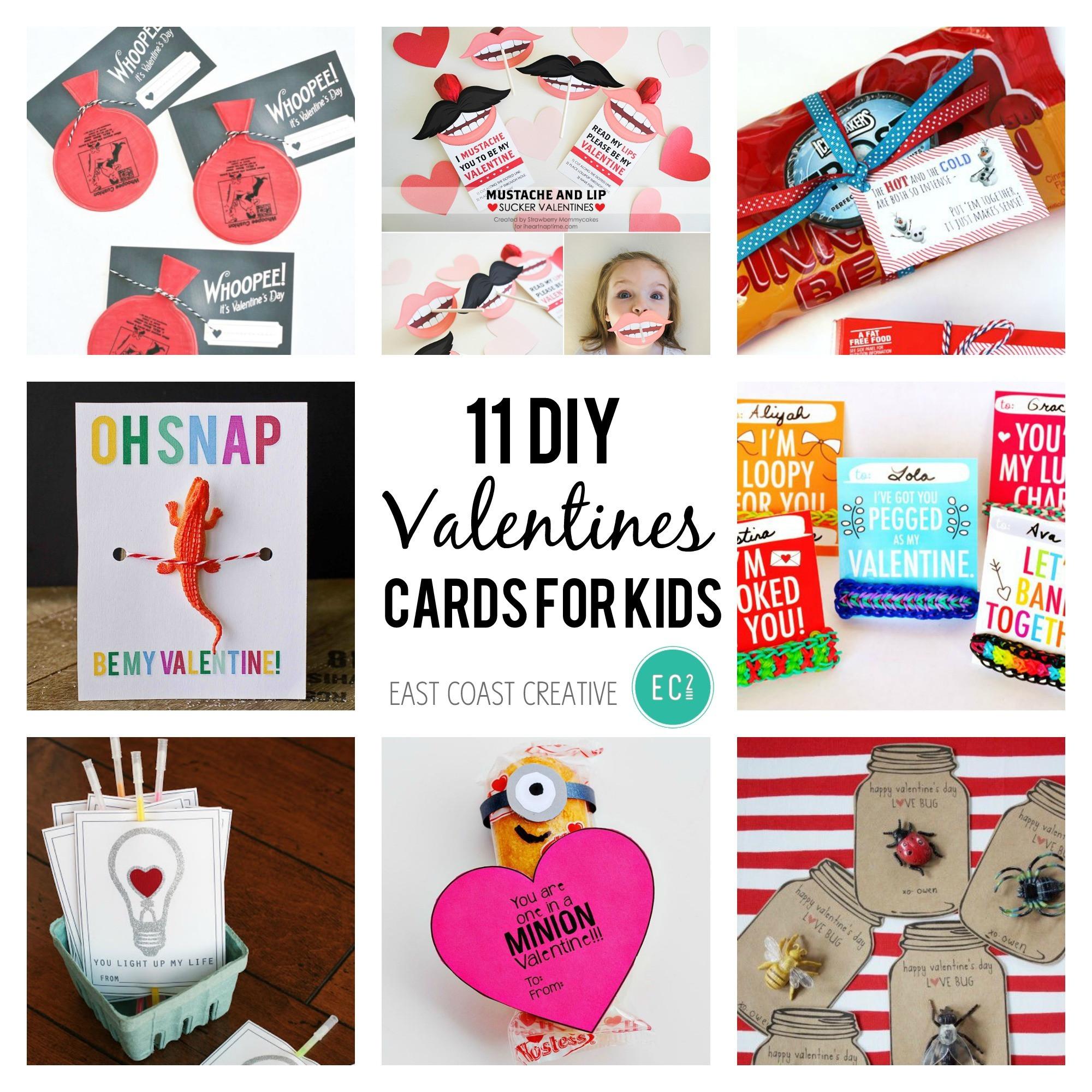 DIY Valentines Cards Kids  11 DIY Valentine's Day Cards for Kids