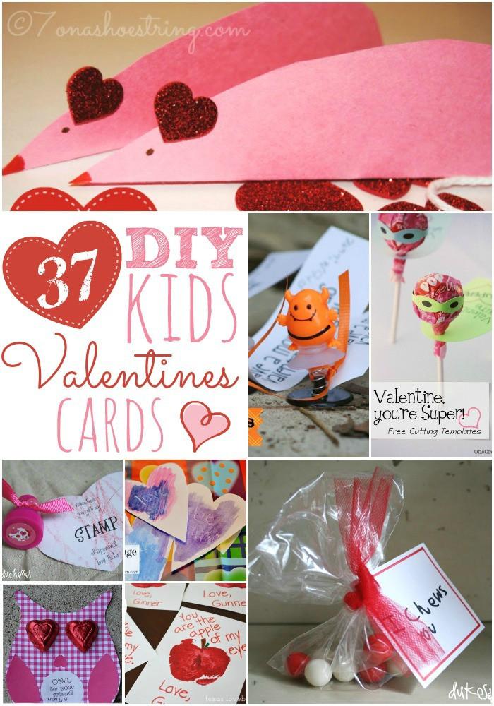 DIY Valentines Cards Kids  37 DIY Kids Valentine Cards