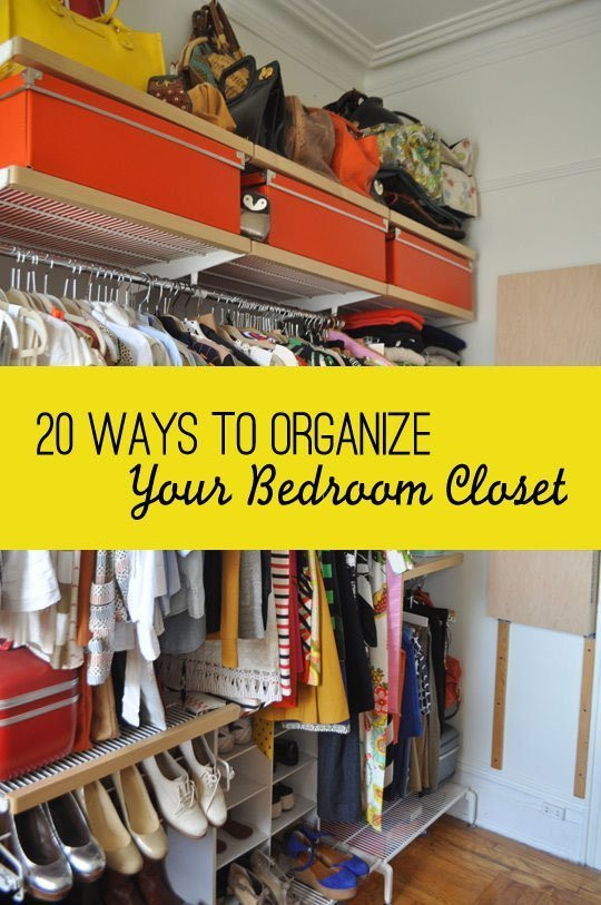 DIY Ways To Organize Your Closet  20 Ways To Organize Your Bedroom Closet