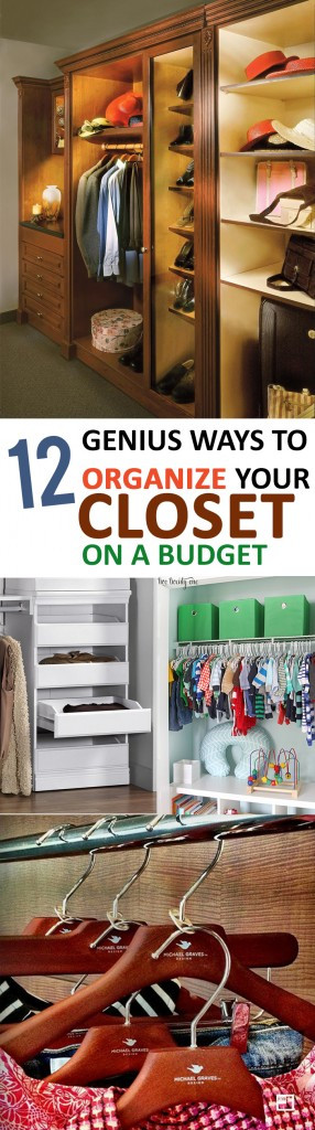 DIY Ways To Organize Your Closet  12 Genius Ways to Organize Your Closet on a Bud