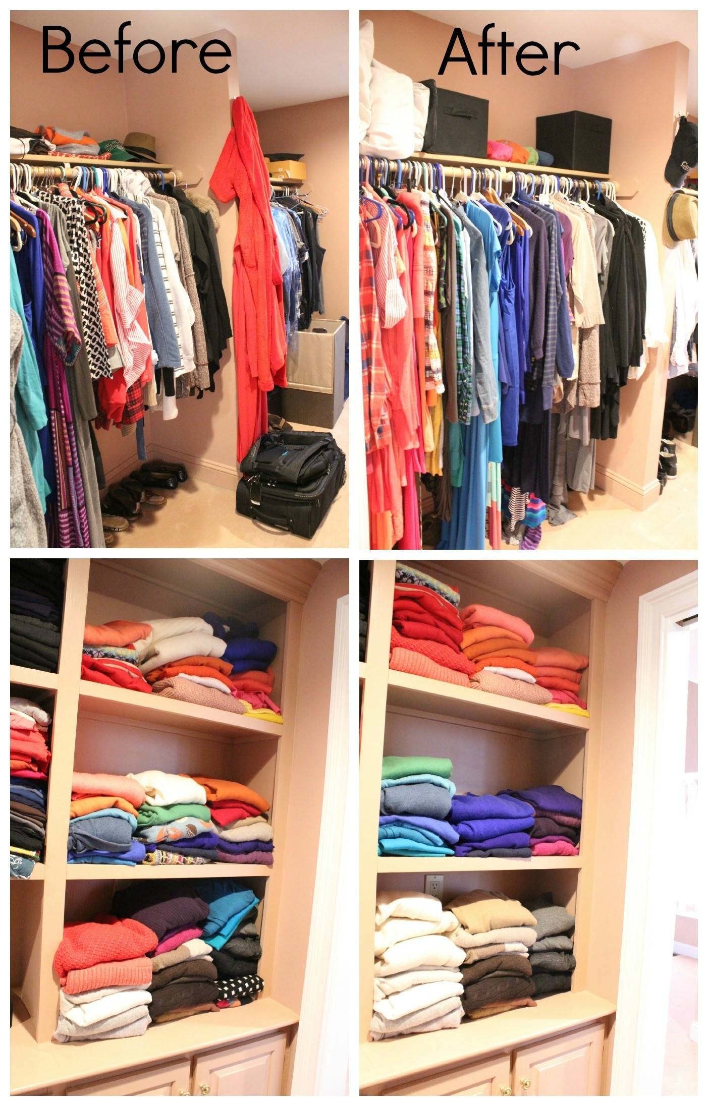 DIY Ways To Organize Your Closet  Home Hacks 12 Clever Closet Makeover Ideas thegoodstuff