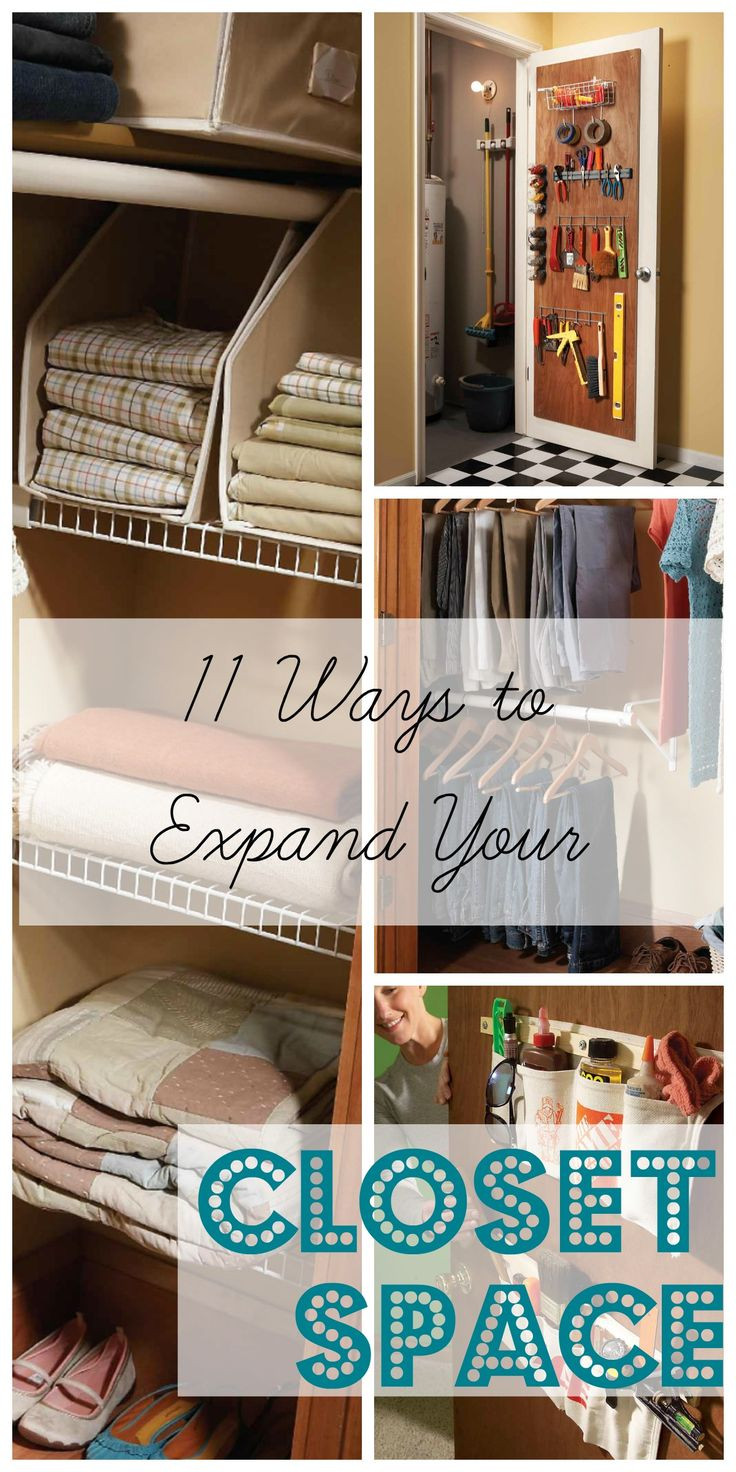 DIY Ways To Organize Your Closet  Use these 11 DIY tips to find clever ways to expand your