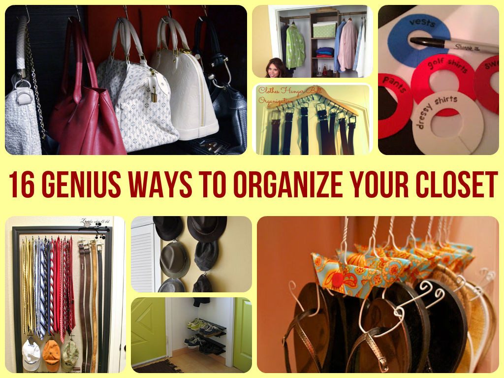 DIY Ways To Organize Your Closet  16 Genius Ways To Organize Your Closet