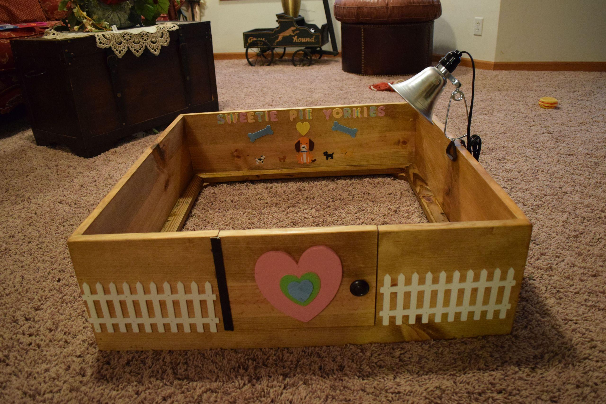 DIY Whelping Box  Breeding DIY Homemade Dogs Whelping birthing Box