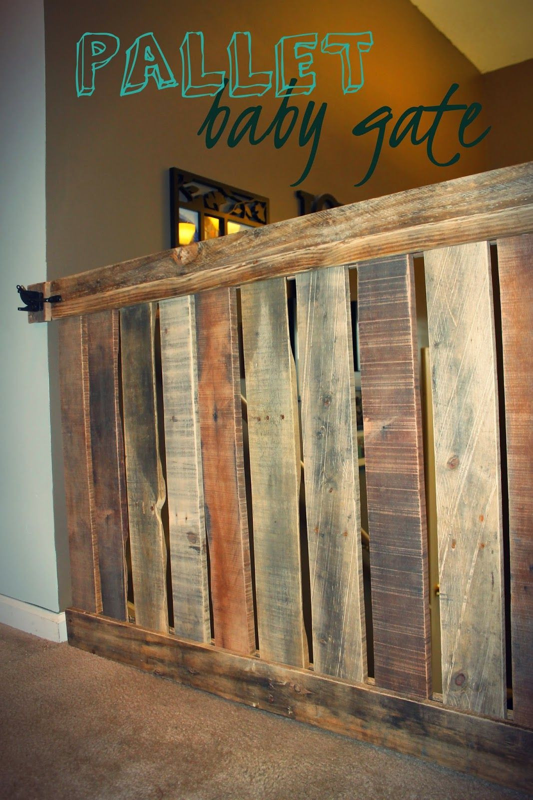 DIY Wood Baby Gate  The Cutest Baby Gate Ever