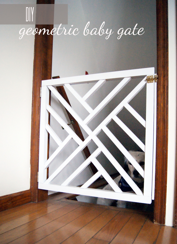 DIY Wood Baby Gate  DIY Geometric Baby Gate — Undeclared Panache