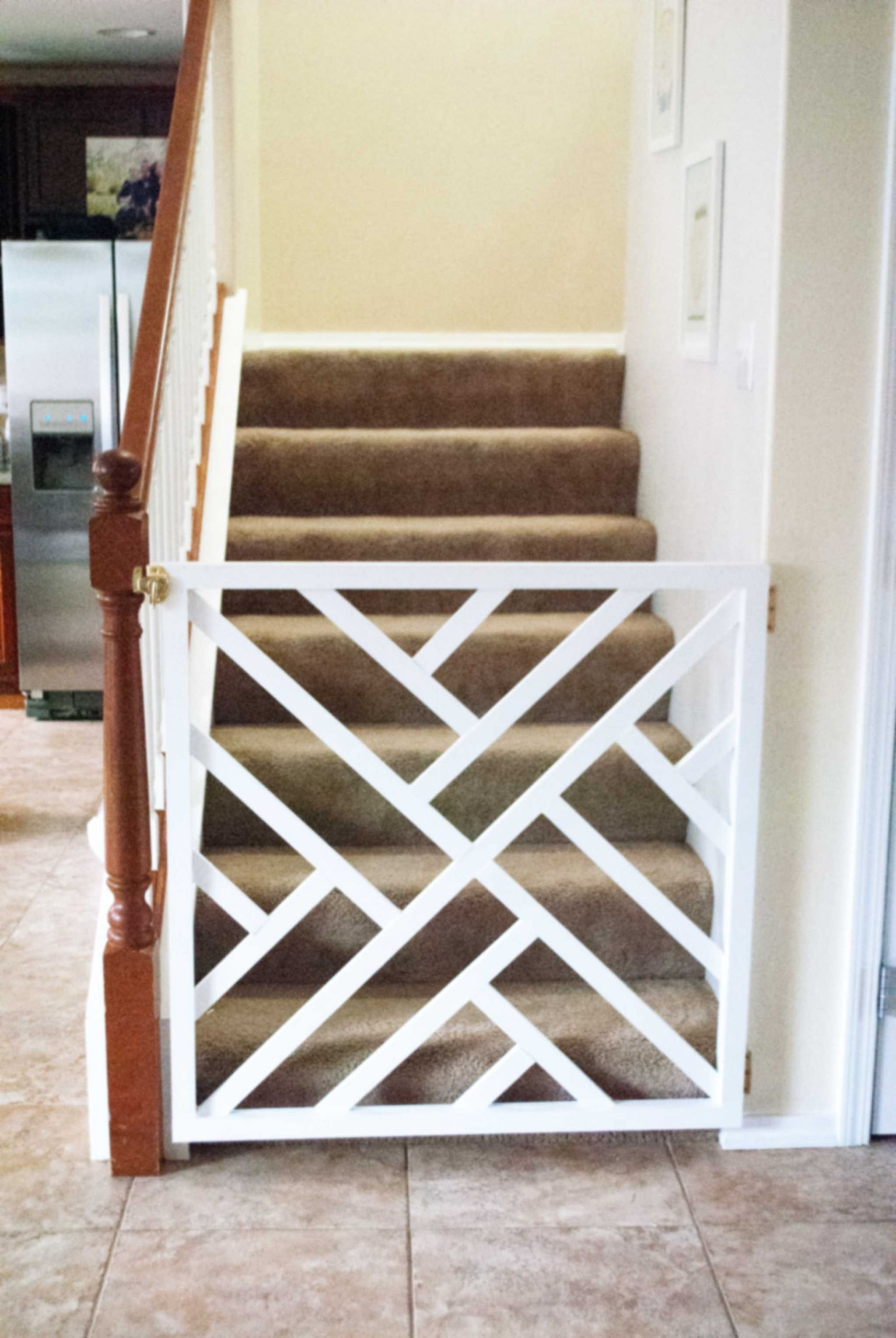 DIY Wood Baby Gate  Do it Yourself Chippendale Pet Gate Itsy Belle