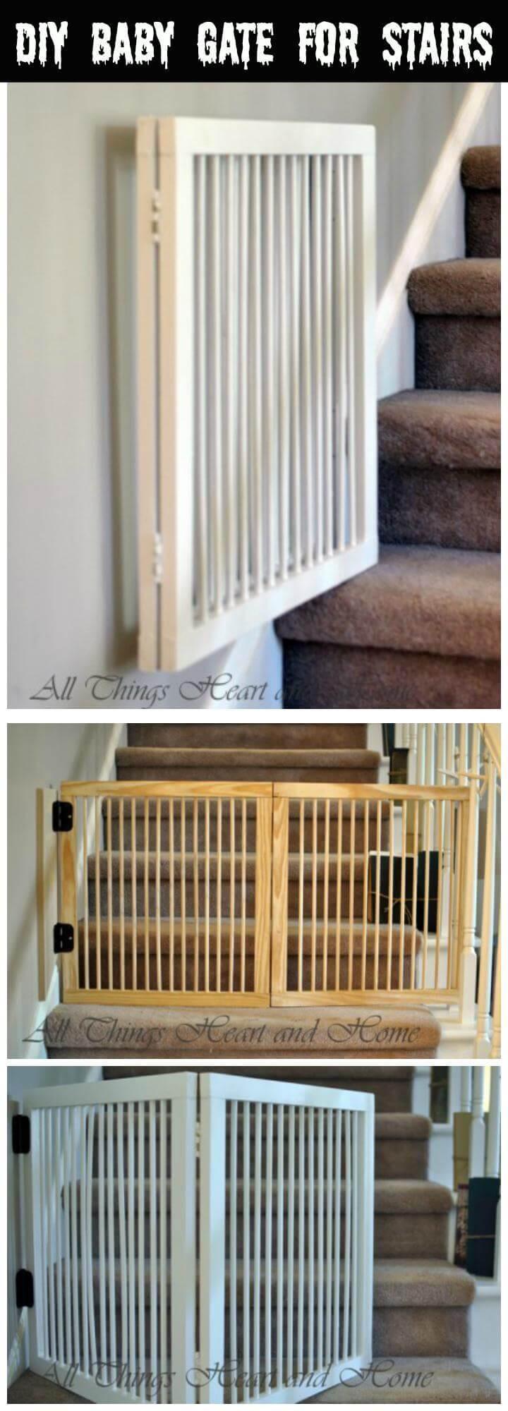 DIY Wood Baby Gate  30 Best DIY Baby Gate Tutorials on Cheap Bud