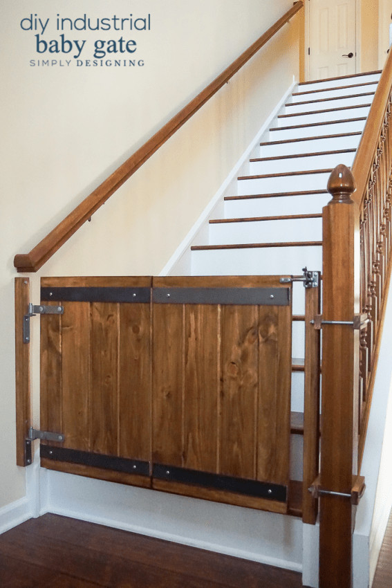DIY Wood Baby Gate  How to Make a Custom DIY Baby Gate with an Industrial Style