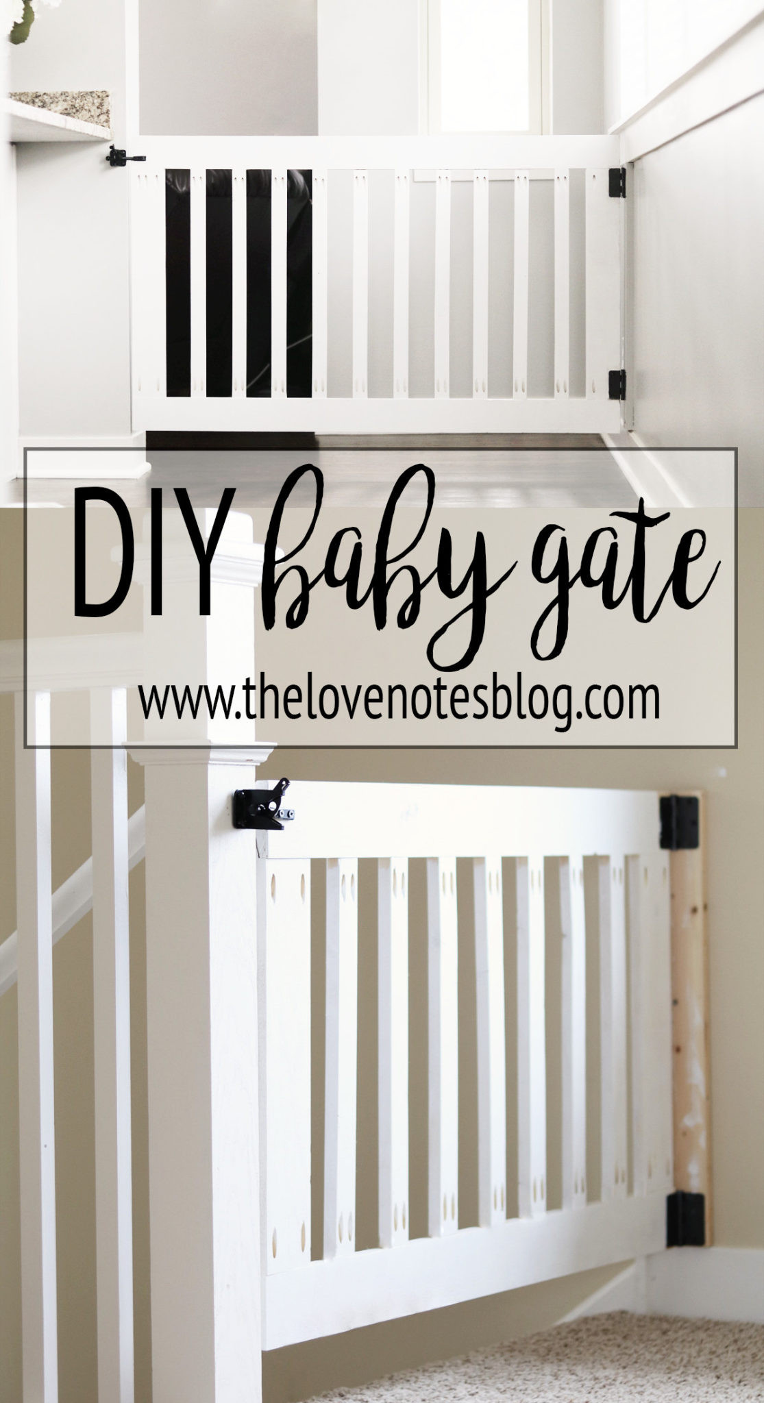 DIY Wood Baby Gate  Custom Wooden DIY Baby Gate for Stairs and Hallways