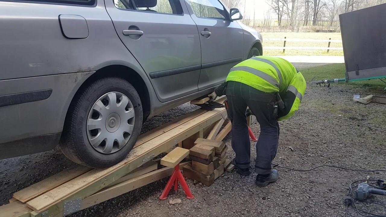 DIY Wood Car Ramps  Car service ramp homemade from wood part 2