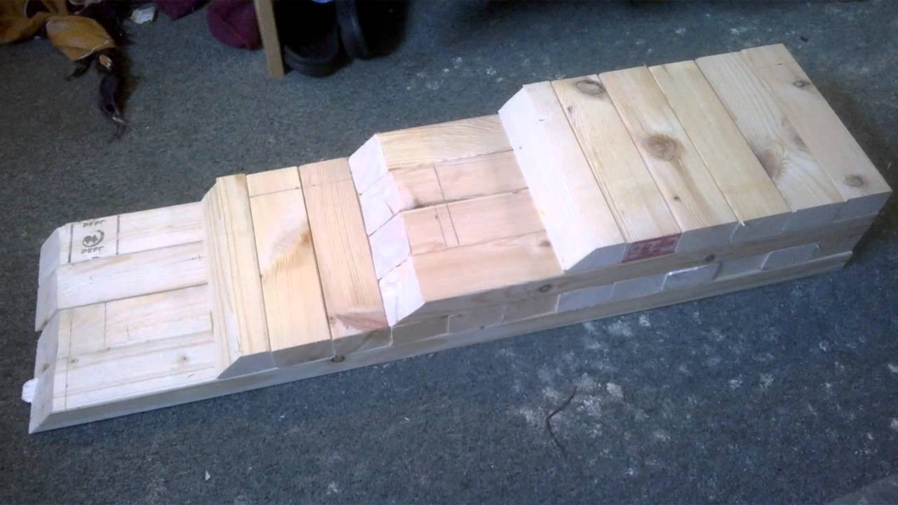 DIY Wood Car Ramps  DIY Car Ramp Wooden low cost homemade vehicle stand lift