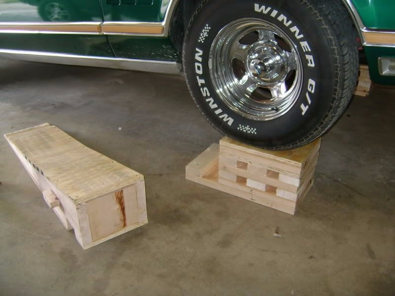 DIY Wood Car Ramps  Car Ramps by andymarkv Homemade car ramps constructed