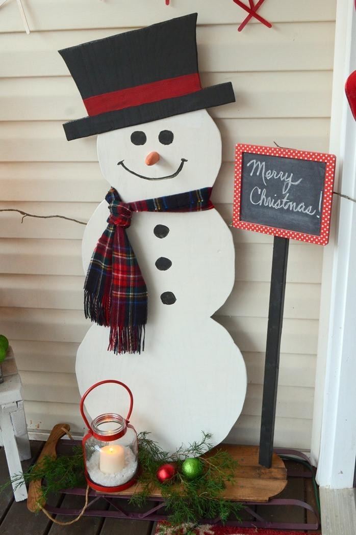 DIY Wooden Snowman  DIY Painted Wood Snowman
