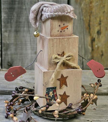 DIY Wooden Snowman  DIY Primitive Snowman Shelf Sitter – Factory Direct Craft Blog