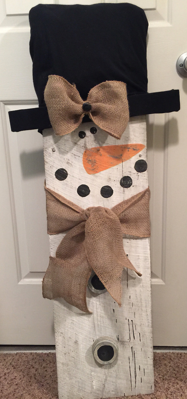 DIY Wooden Snowman  Rustic Holiday Decor Page 17 of 17 Smart School House