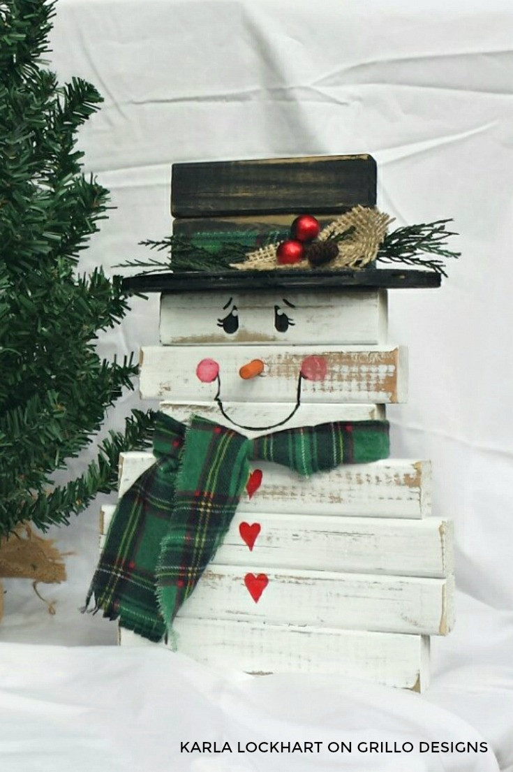 DIY Wooden Snowman  How To Make A Wooden Snowman From Spindles • Grillo Designs