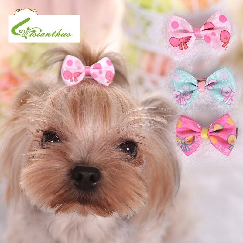Dog Hair Bows DIY  Candy Color Dog Bows Dog Grooming Accessories Hairpins Cat