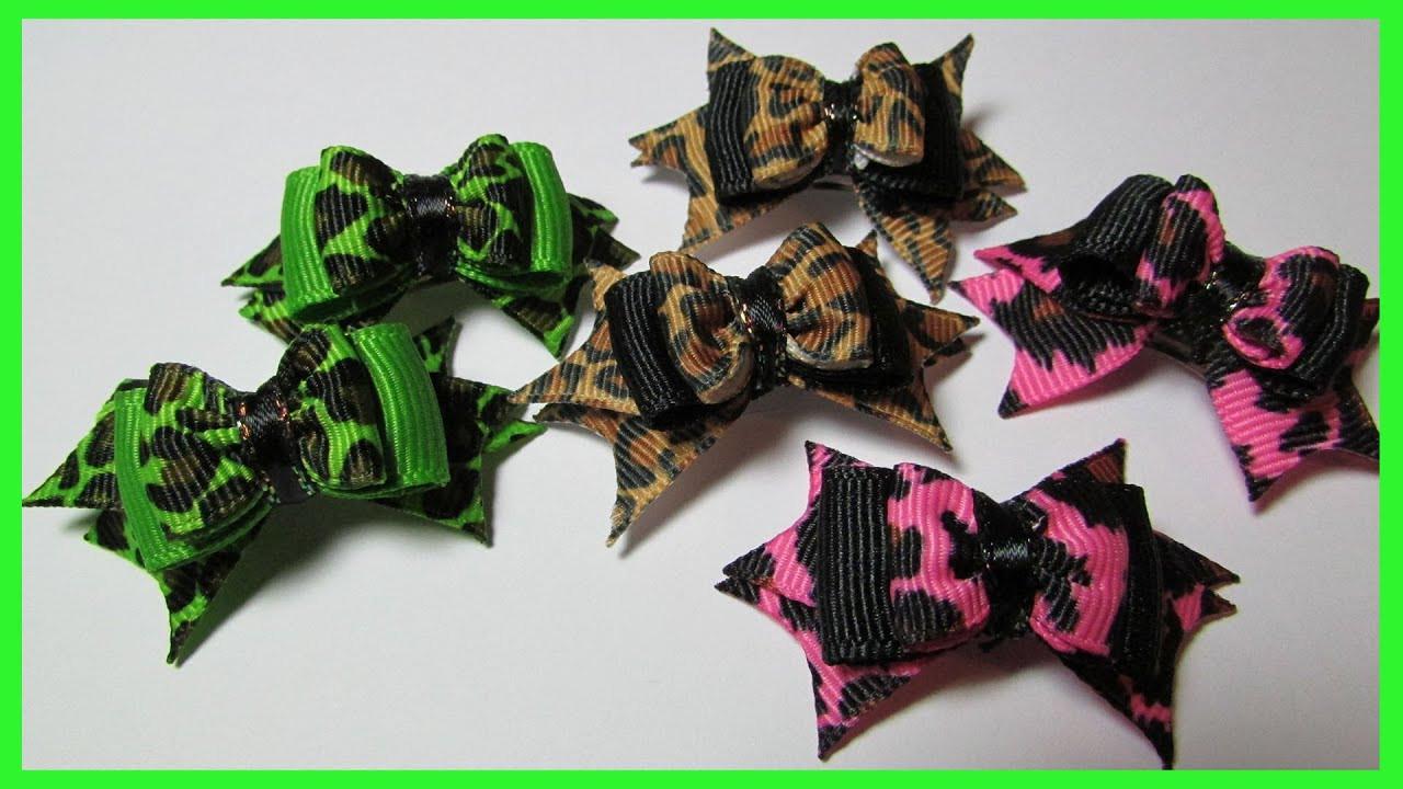 Dog Hair Bows DIY  DIY Dog Hair Bows No 8 How to make spiked hair bows