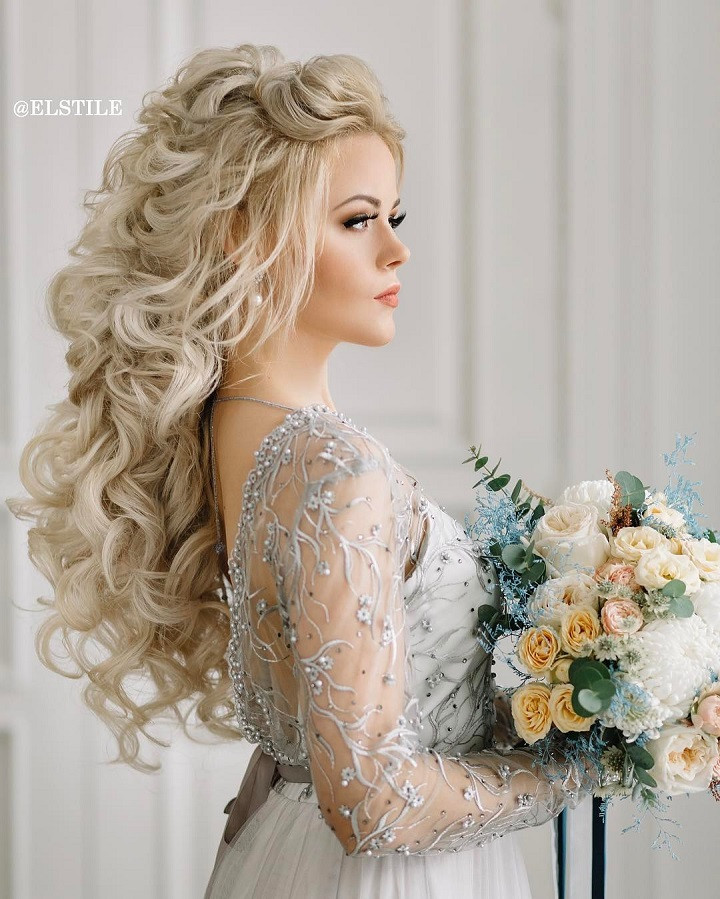 Down Hairstyles For Brides  18 beautiful wedding hairstyles down for brides and