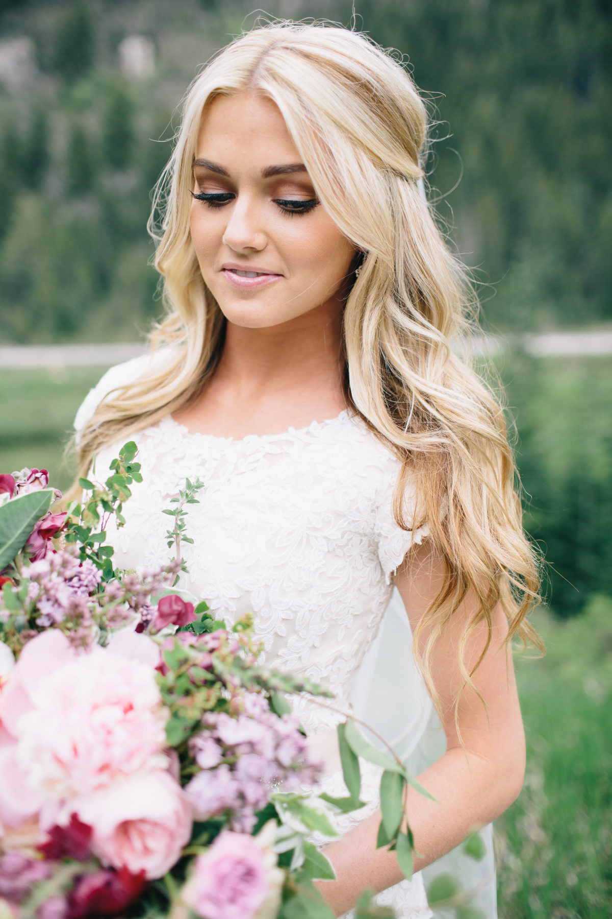 Down Hairstyles For Brides  Half Up Half Down Bridal Hair Ideas to Copy Now