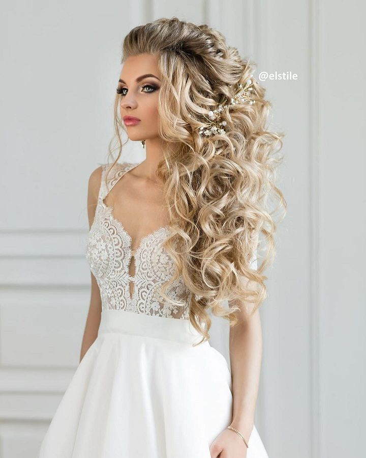 Down Hairstyles For Brides  Beautiful wedding hairstyles down for brides and bridesmaids