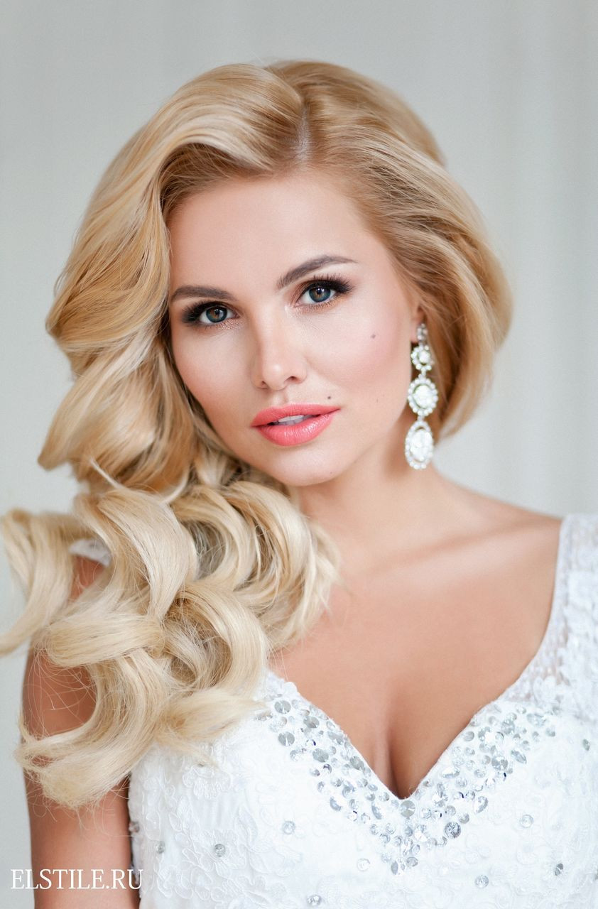 Down Hairstyles For Brides  Wedding Hairstyles Curls Down Ideas for Brides