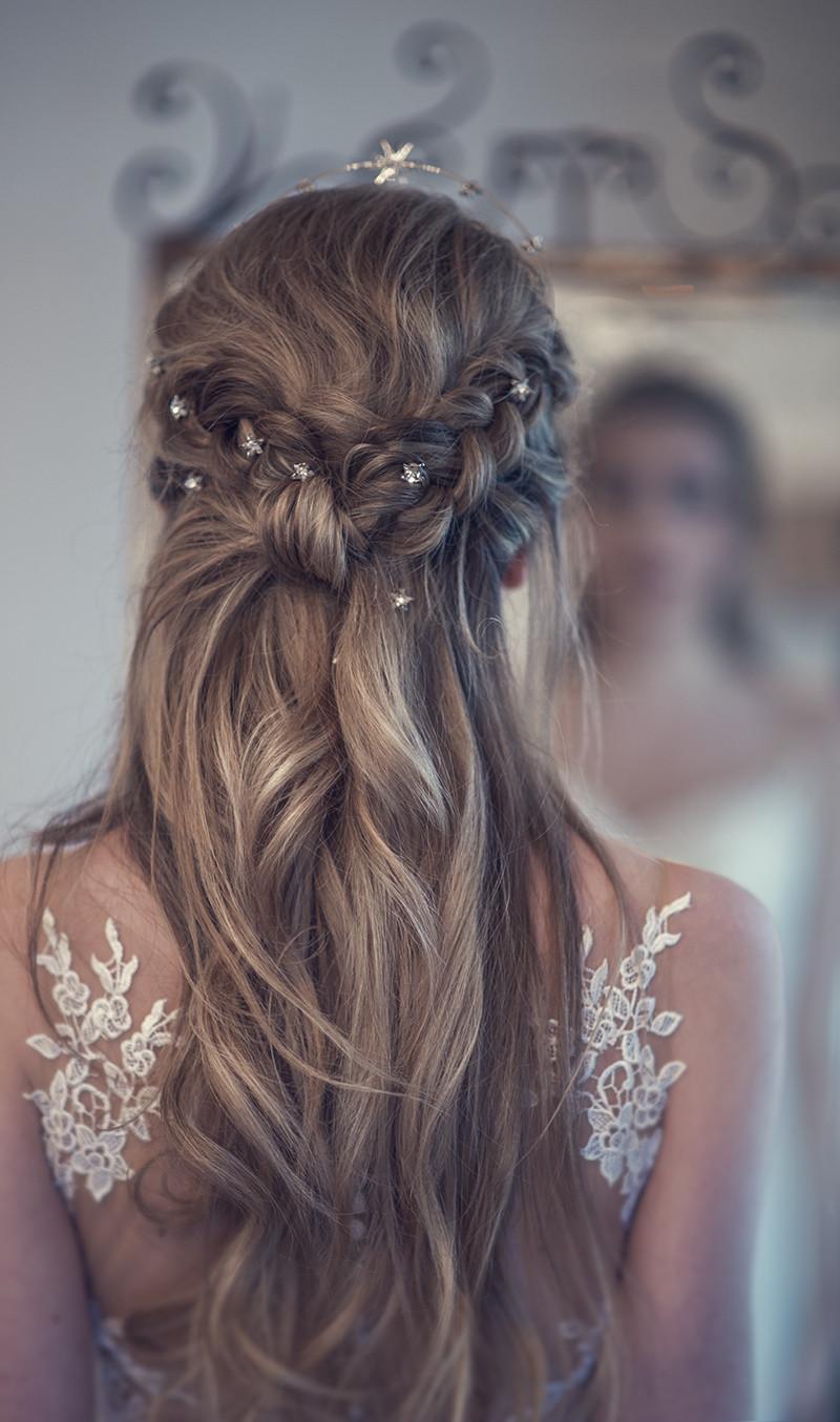Down Hairstyles For Brides  Beautiful Bridal Half Up Half Down Wedding Hair Inspiration