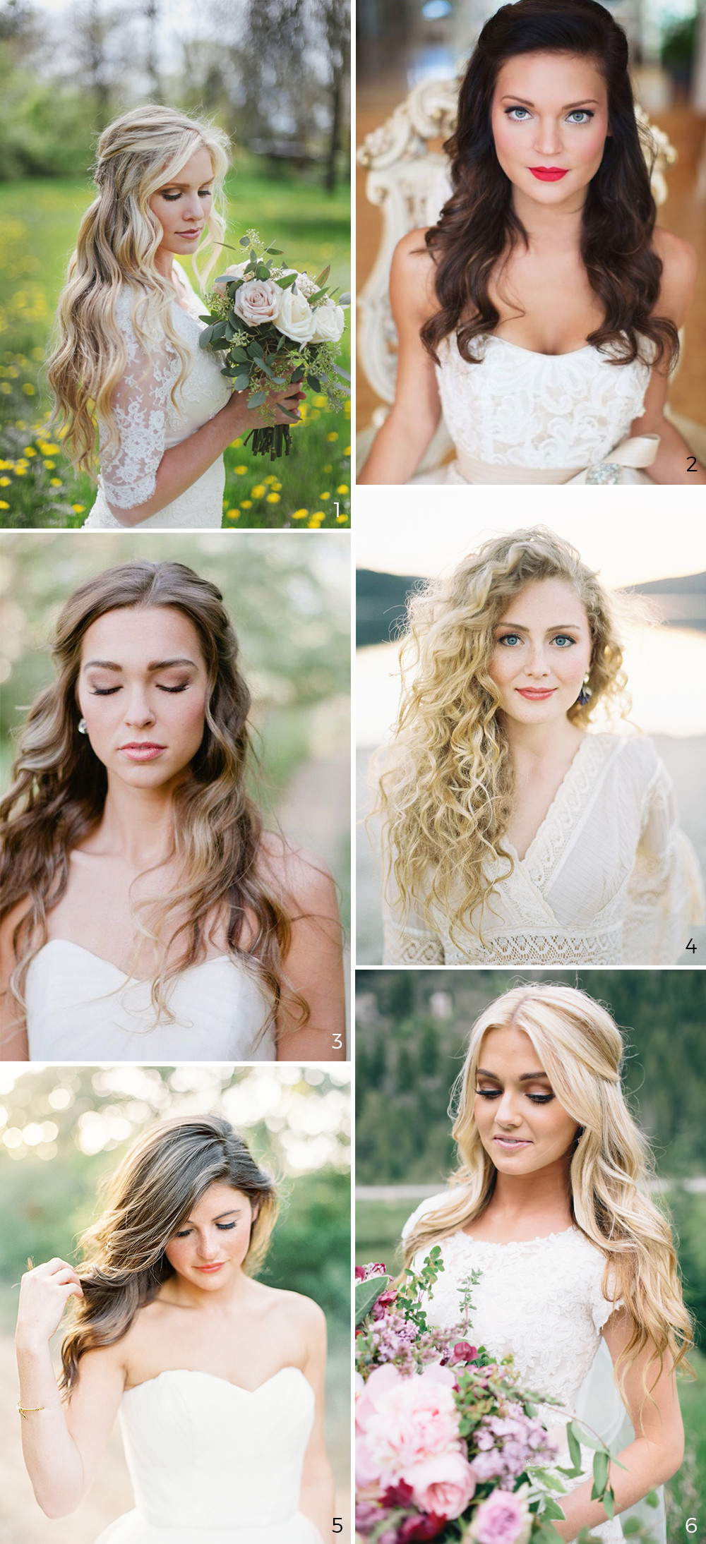 Down Hairstyles For Brides  Wedding Hairstyles 5 Unavoidable Trends