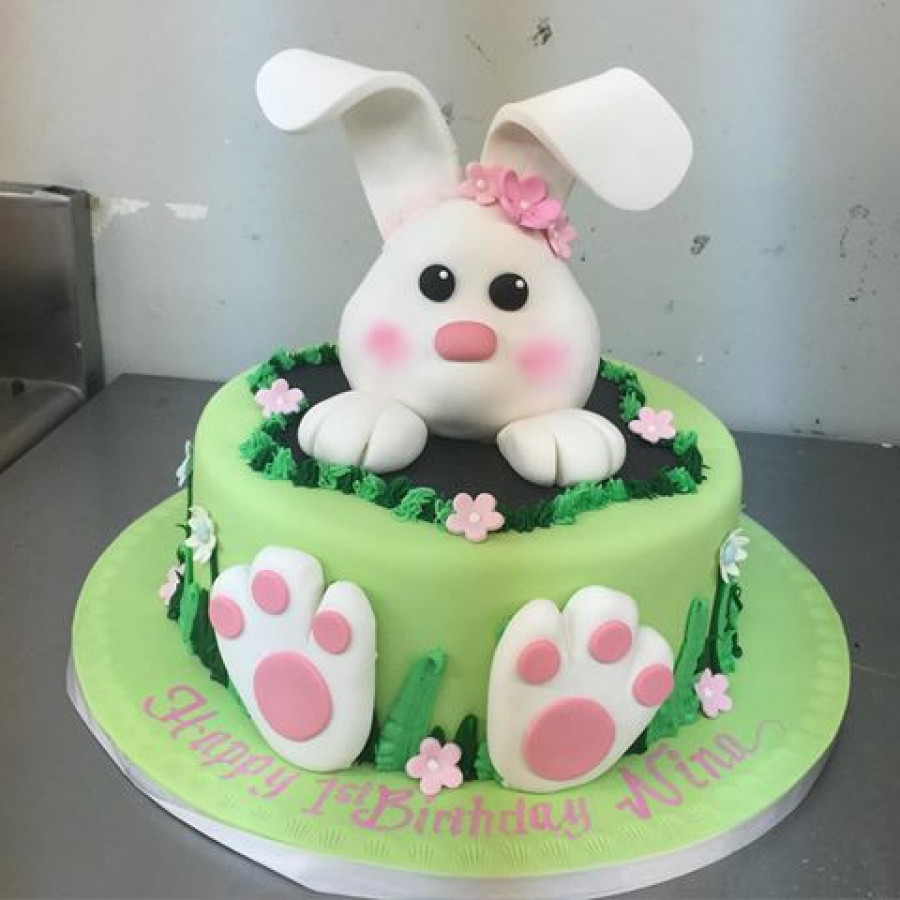 Easter Birthday Cakes  Need Advice Bunny Cake Topper CakeCentral