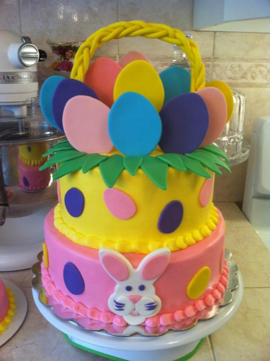 Easter Birthday Cakes  Easter Basket Birthday Cake CakeCentral
