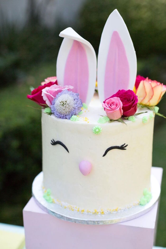 Easter Birthday Cakes  Kara s Party Ideas Easter Garden Party