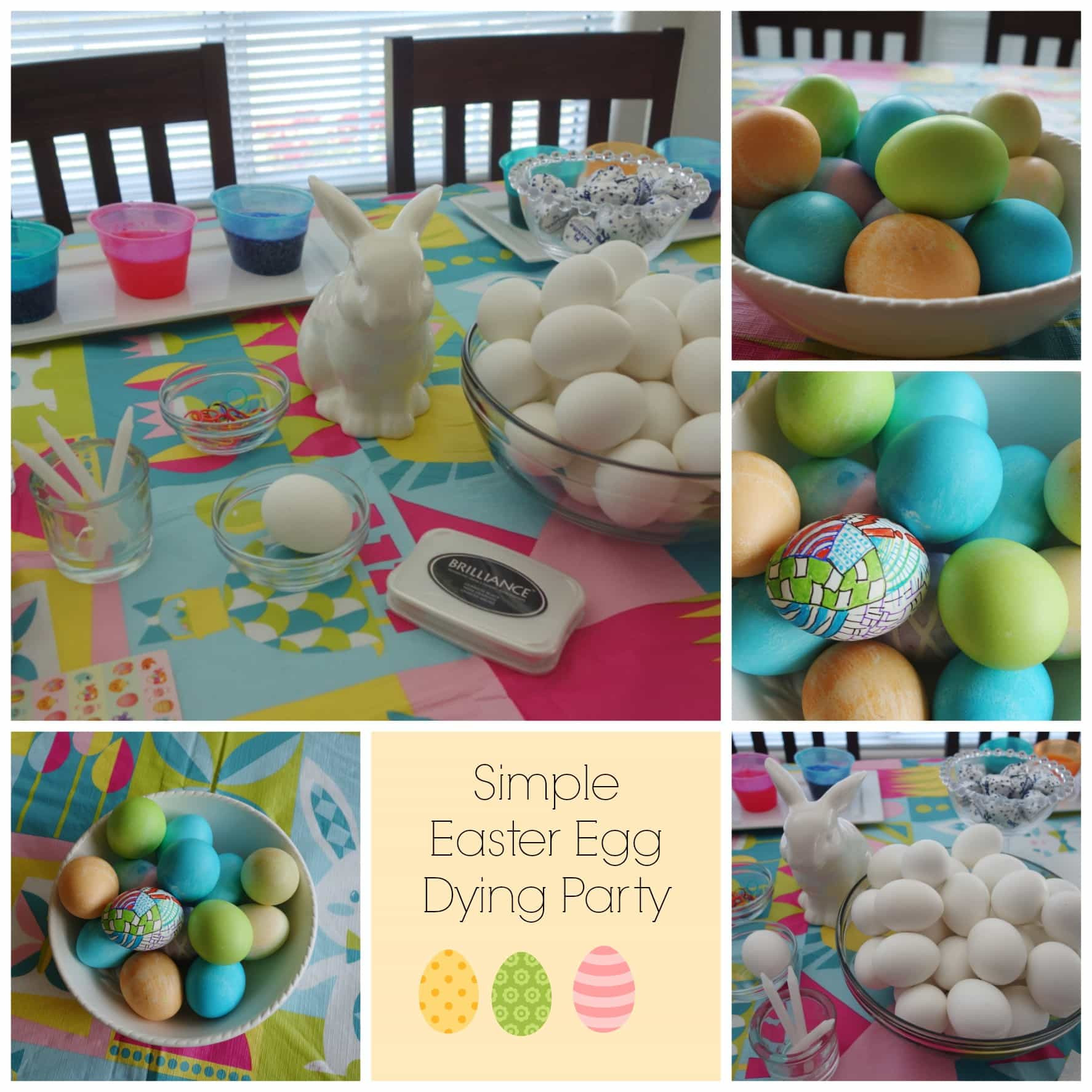 Easter Egg Party  Simple Easter Egg Dying Party Momma Can