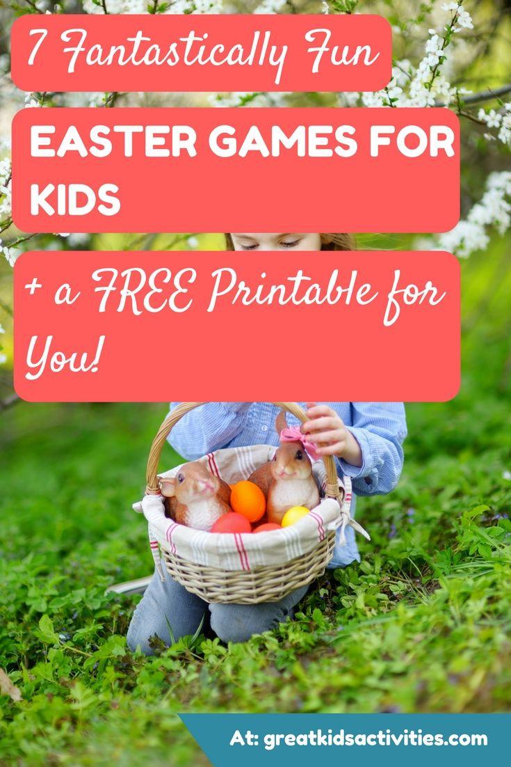 Easter Games For Kids Indoor  Easter Games for Kids