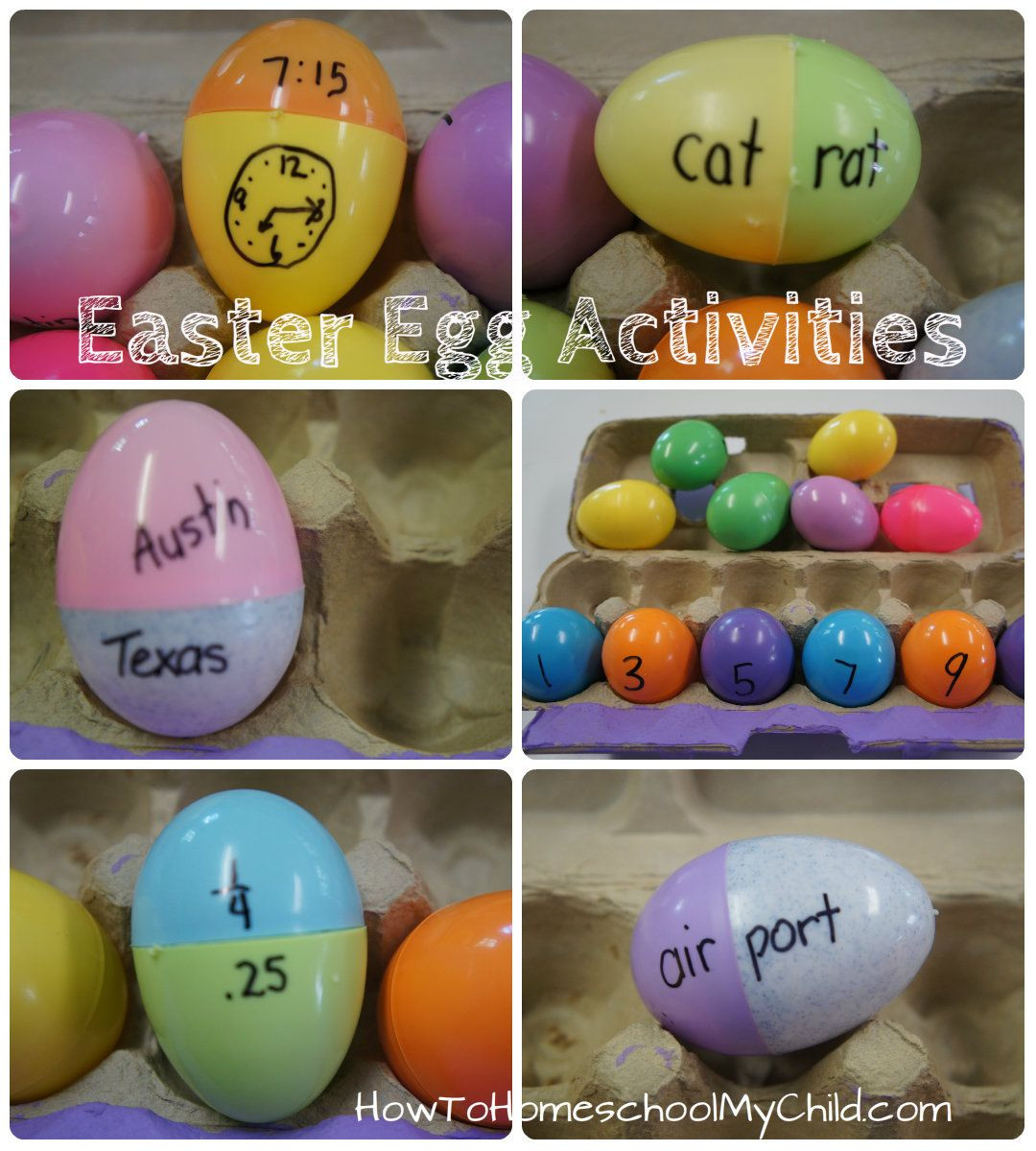 Easter Games For Kids Indoor  Learning Games with Kids – Plastic Easter Egg Activities