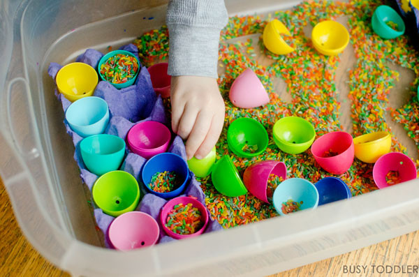 Easter Games For Kids Indoor  Easter Sensory Bin Busy Toddler