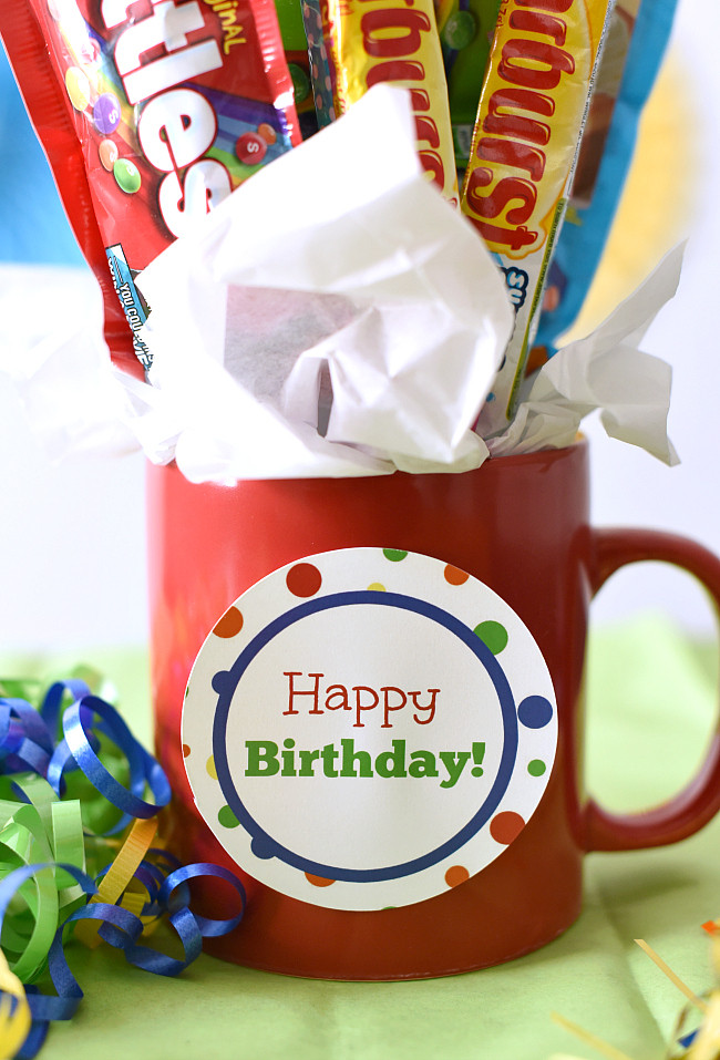 Easy Birthday Gift Ideas  Easy Birthday Gift Idea Candy Bouquet in a Mug – Fun Squared