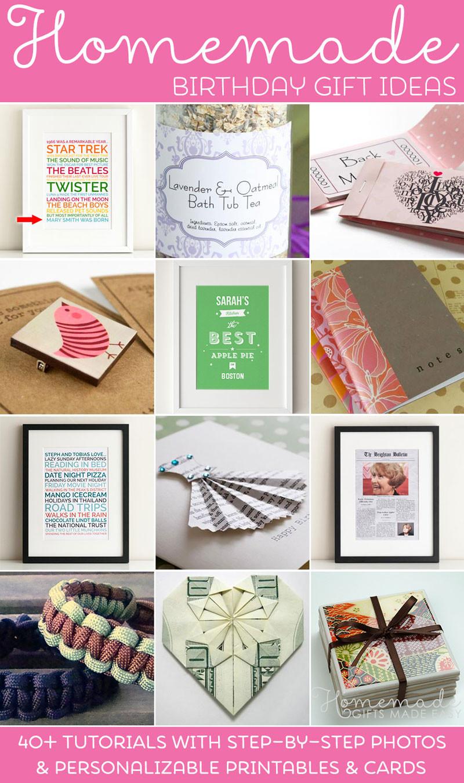 Easy Birthday Gift Ideas  Homemade Birthday Gifts Ideas & Instructions