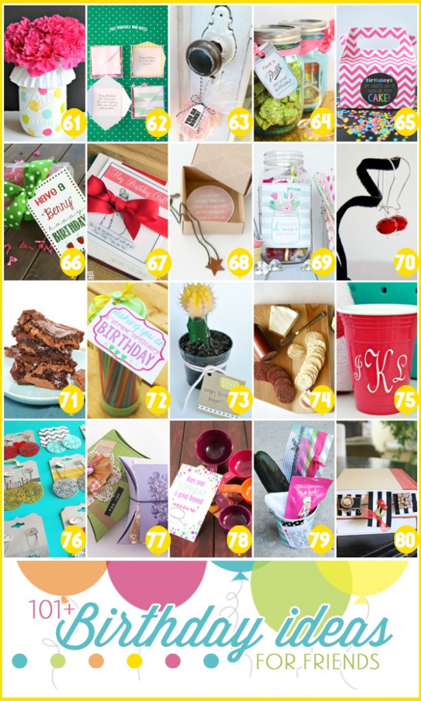 Easy Birthday Gift Ideas  101 easy birthday t ideas and FREE printables