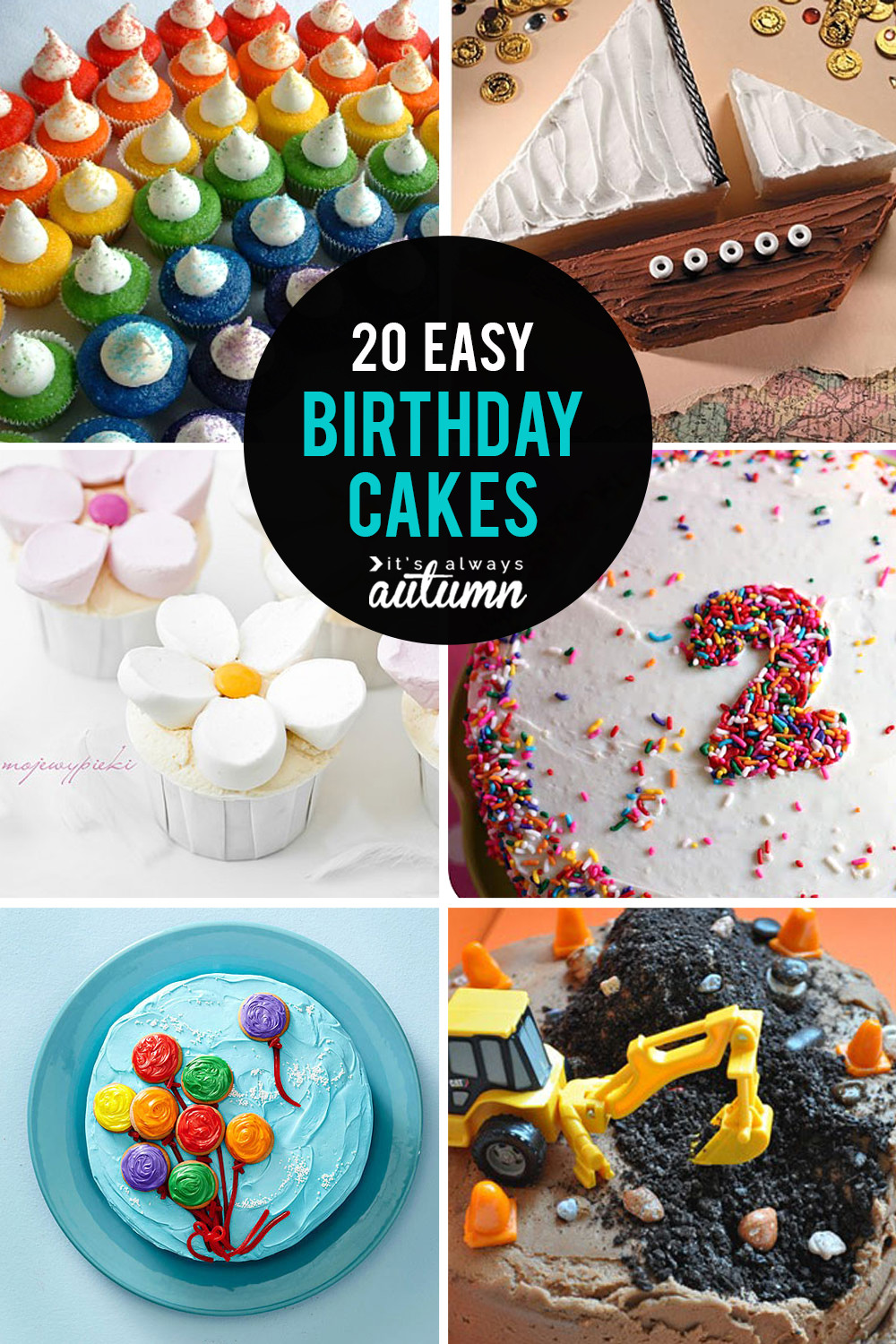 Easy Birthday Gift Ideas  20 easy birthday cakes that anyone can decorate It s