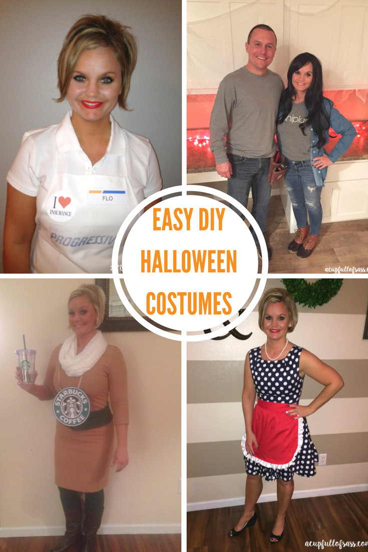 Easy DIY Couple Costumes  DIY Halloween Costume Ideas A Cup Full of Sass